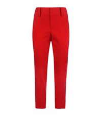 Alice Olivia Cadence Cropped Trousers Female Red