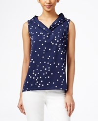 Styleandco. Style And Co. Petite Hooded Star Print Tank Top Only At Macy's Ink