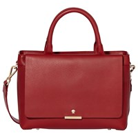 Modalu Bess Leather Mini Tote Bag Cherry