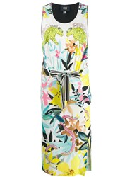 Class Roberto Cavalli Jungle Print Midi Dress White