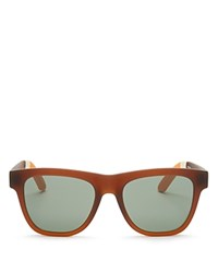 Toms Traveler Dalston Oversized Square Sunglasses 54Mm Matte Brown Green Gray Solid