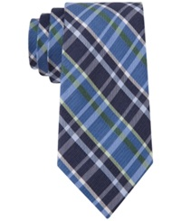 Club Room Sidewalk Plaid Slim Tie Only At Macy's Green