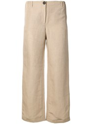 Aalto Cropped Flared Trousers Neutrals