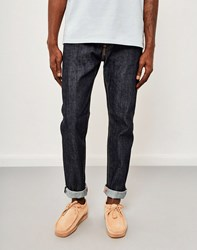 Edwin Ed 80 Slim Tapered Red Listed Selvedge Jeans Unwashed Navy
