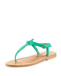 Picon Leather Thong Sandal Mint Green K. Jacques Bright Mint Green