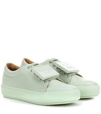 Acne Studios Adriana Turnup Leather Sneakers Green