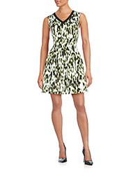 Marc New York Printed Fit And Flare Dress Multicolor
