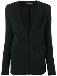 David Koma Sequin Panel Blazer Black