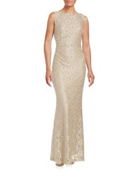 Ellen Tracy Lace Gown Champagne