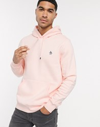 Original Penguin Badge Logo Hoodie In Pink