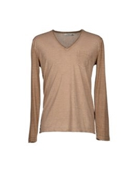 Manuel Ritz White Sweaters Light Brown