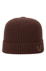 True Religion Men's Brand Jeans Rib Knit Cap Brown Coffee Bean