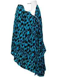Each X Other Leopard Print Asymmetric Skirt Blue