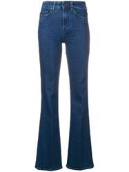 7 For All Mankind Flared Jeans Blue
