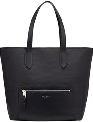 Smythson Greenwich East West Canvas And Leather Tote Black