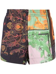 Osklen Patchwork Print Shorts Men Viscose 42
