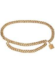 Chanel Vintage Perfume Bottle Chain Belt Gold