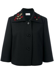 Red Valentino Short A Line Jacket Black