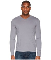 Mod O Doc Cardiff Long Sleeve Jersey V Neck Tee Grey Sky T Shirt Gray