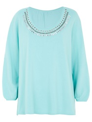 Windsmoor Embellished Jumper Light Turquoise