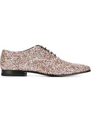Saint Laurent Glitter Embellished Oxford Shoes Multicolour