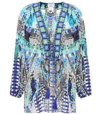 Camilla Embellished Silk Cover Up Multicoloured