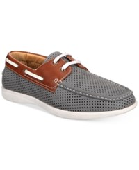 Unlisted By Kenneth Cole Men's Comment Ary Perforated Boat Shoes Men's Shoes Gray