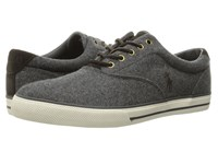 Polo Ralph Lauren Vaughn Grey Solid Flannel Men's Lace Up Casual Shoes Gray