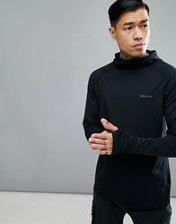 Marmot Harrier Baselayer Hoodie In Black