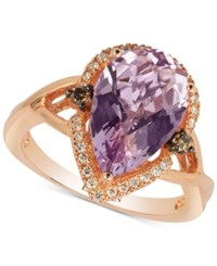 Le Vian Chocolatier Cotton Candy Amethyst 3 1 3 Ct. T.W. And Diamond 1 5 Ct. T.W. Ring In 14K Rose Gold