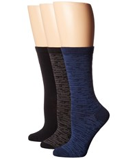 Steve Madden 3 Pack Pattern Crew Socks Black Space Dye Women's Crew Cut Socks Shoes