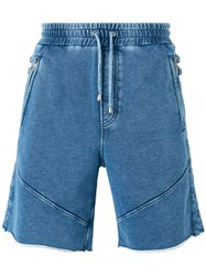 Just Cavalli Elasticated Waist Jean Shorts Blue