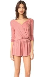 Young Fabulous And Broke Yfb Clothing Blair Romper Melon