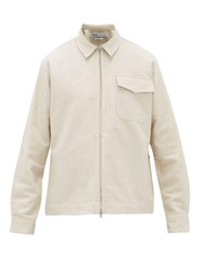 Schnayderman's Cotton And Linen Blend Twill Jacket Beige
