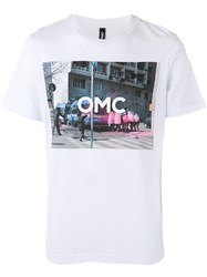 Omc Graphic Print T Shirt Unisex Cotton M White