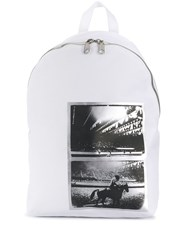 Calvin Klein Jeans Andy Warhol Photo Art Backpack White