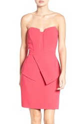 Adelyn Rae Women's Strapless Peplum Sheath Dress