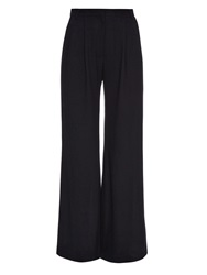 Goat Redford Wide Leg Wool Crepe Trousers