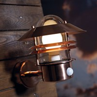 Amara Blokhus Sensor Outdoor Wall Light Copper