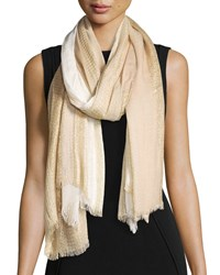 Theodora And Callum Two Tone Ombre Scarf Ivory Multi