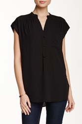 Pleione Short Sleeve Kim Blouse Black