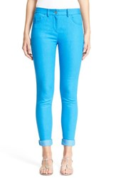 Women's St. John Collection 'Bardot' Capri Jeans Cyan