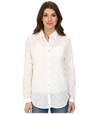 Jag Jeans Terri Classic Fit Cotton Shirt White Women's Long Sleeve Button Up