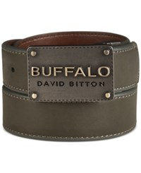 Buffalo David Bitton Reversible Logo Plaque Belt Green Brown