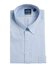 Eagle Go Long Sleeve Solid Dress Shirt With Stretch Collar Blue Mist