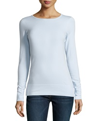 Minnie Rose Long Sleeve Crewneck Tee Bleu Clair