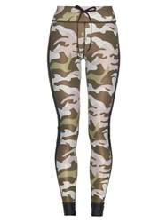 The Upside Camouflage Print Performance Leggings Green