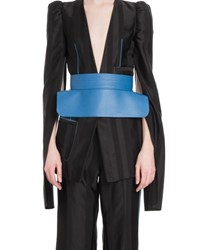 Loewe Napa Leather Obi Belt Blue