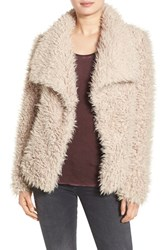 Betsey Johnson Women's Faux Fur Jacket Beige