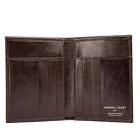 Maxwell Scott Bags Men S Brown Leather Credit Card Wallet